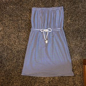 Gap Striped Strapless Dress/Swim Cover